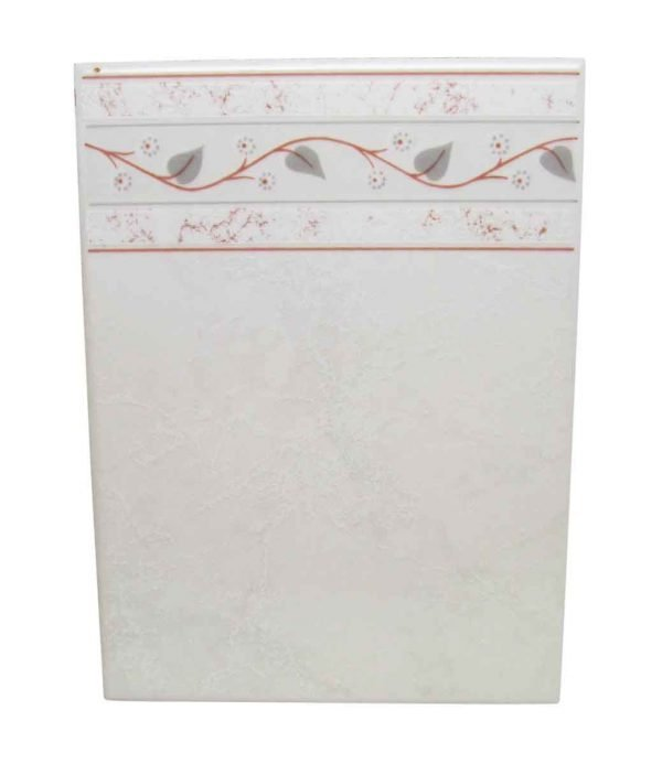 White Floral Floor Border Tile