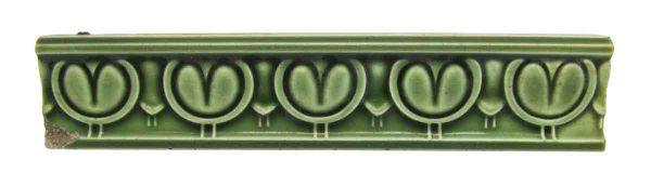 Green Art Nouveau Border Tiles