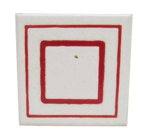 Geometric Red Square Tile