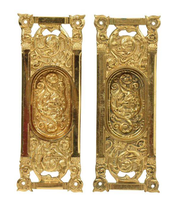 Ornate Pocket Door Handles