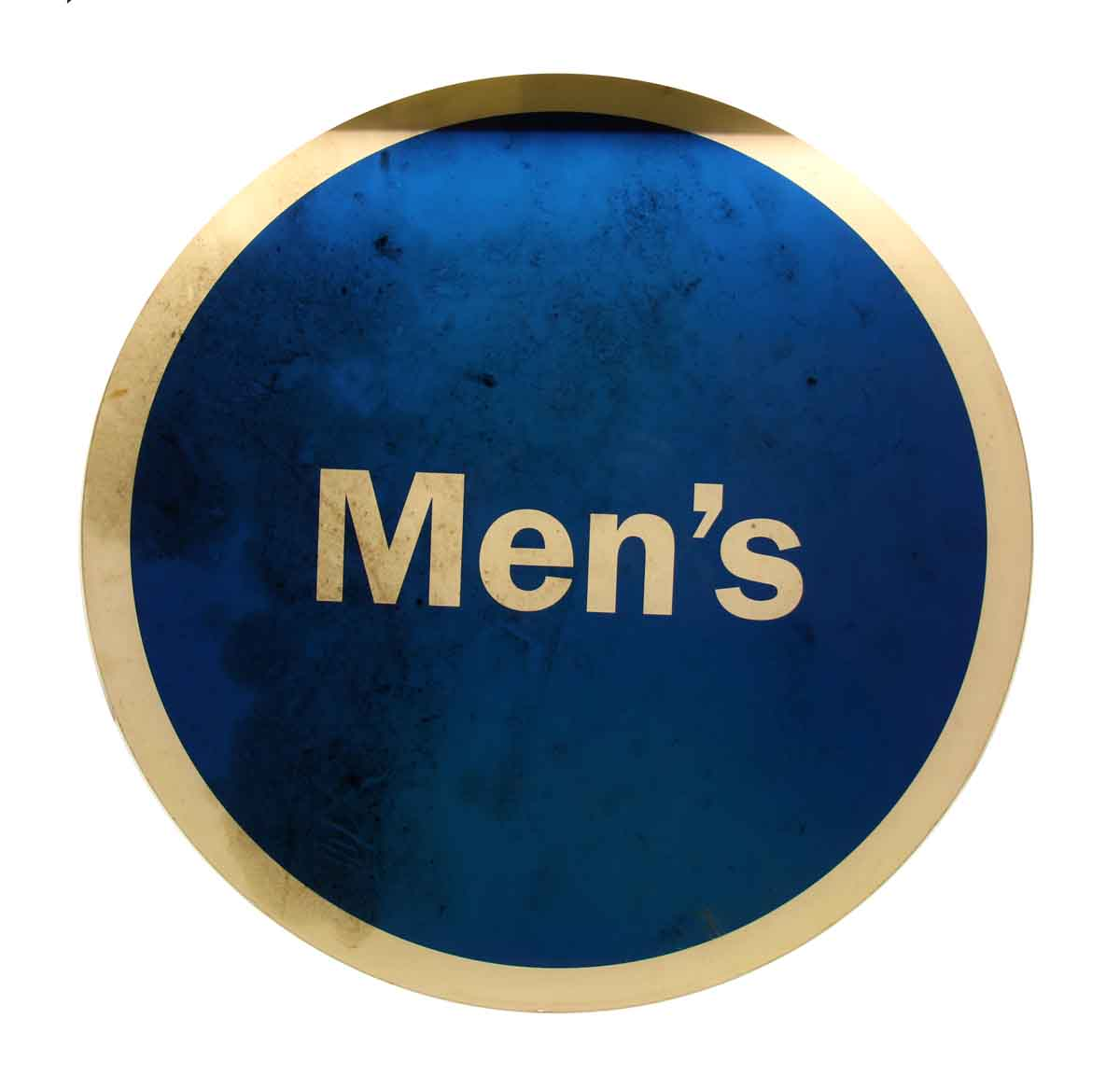 Round Blue Amp White Men S Sign Olde Good Things