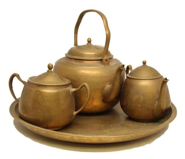 Vintage Brass Tea Set