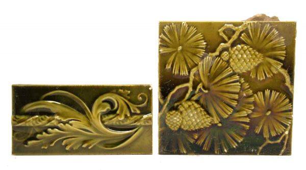 Greenish Yellow Raised Tile Set