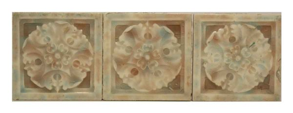 Set of Eight Pastel Geometric Tile