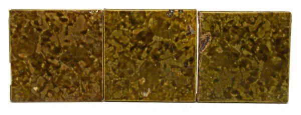 Set of Five Green Decorative Tiles