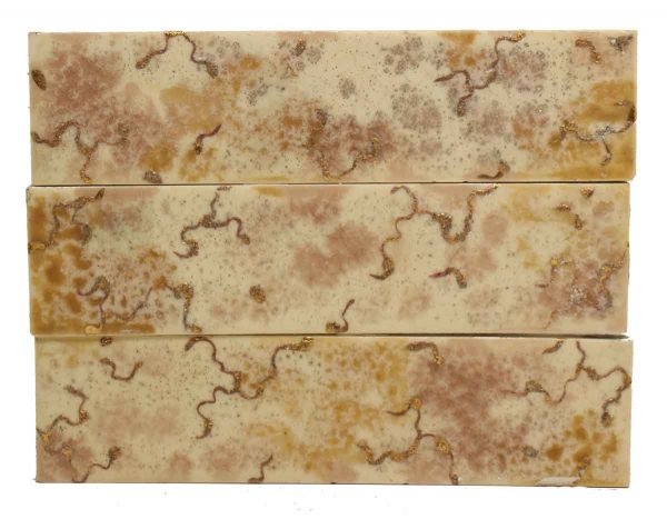 Set Brown & Gold Mixed Tile