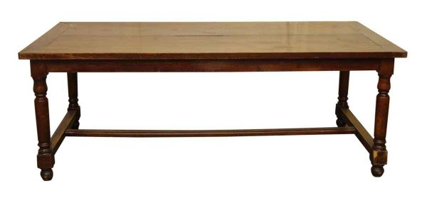 Solid Cherry Farm Table with Spindle Legs
