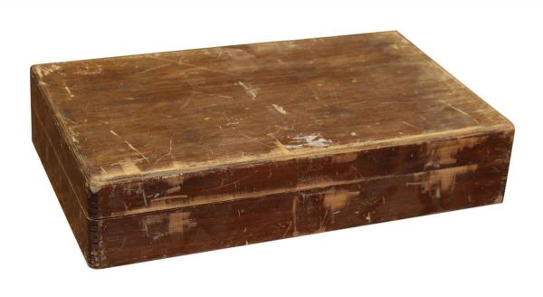 Worn Wooden Silverware Box