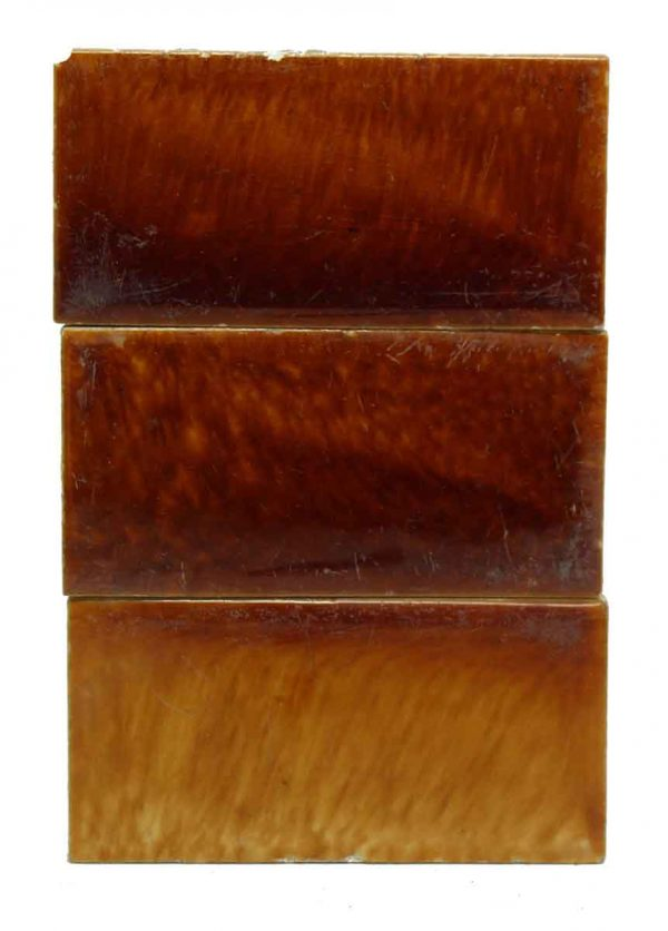 Set of Three Brown Tiles