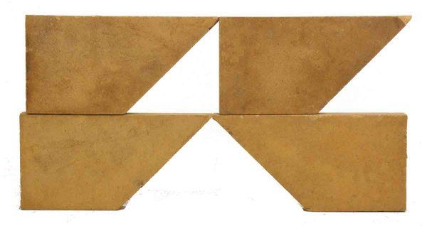Set of Trapezium Shaped Tan Tiles