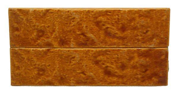 Pair of Textured Burnt Orange Tiles