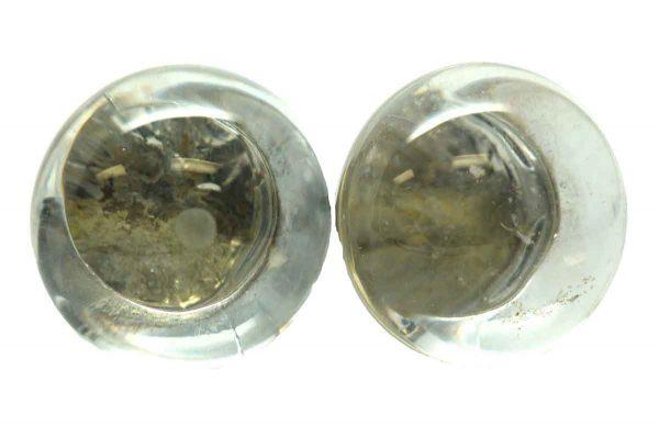 Fixed Base Glass Knob Set