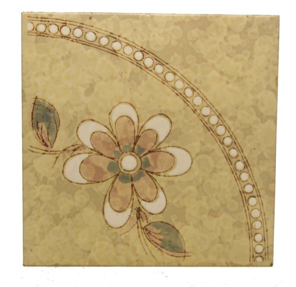 Single Floral Decorative Tile