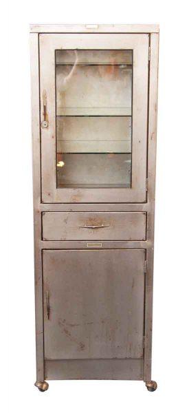 Stripped Metal Medical Cabinet