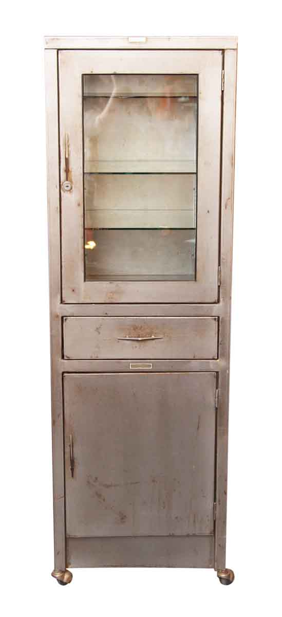 Stripped Metal Medical Cabinet