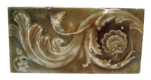 Floral Raised Decorative Tile Set