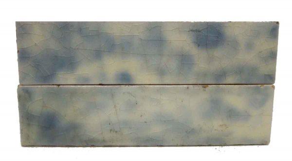 Set of Two Blue & White Tiles