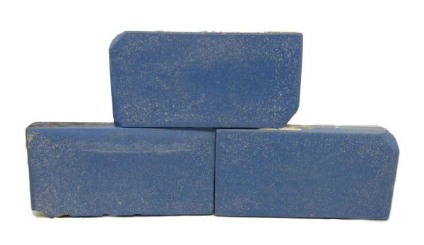 Set of 5 Blue Matted Tiles