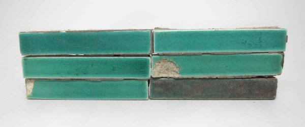 Set of Blue Green Narrow Tiles