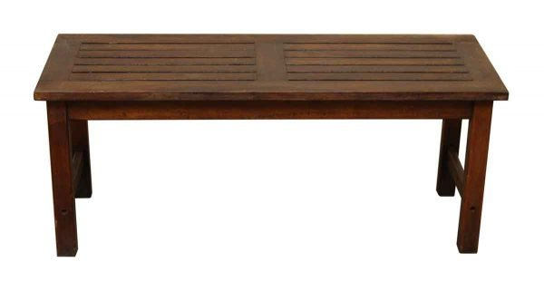 Simple Wood Plank Bench