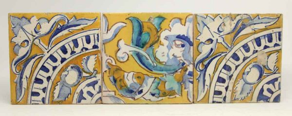 Set of Yellow & Blue Decorative Tiles