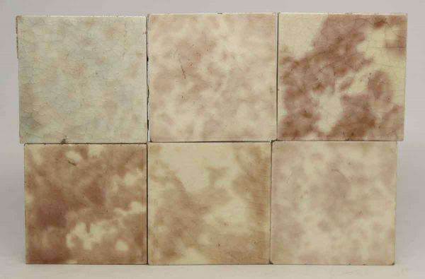 Set of Square Crackled Multicolor Tiles