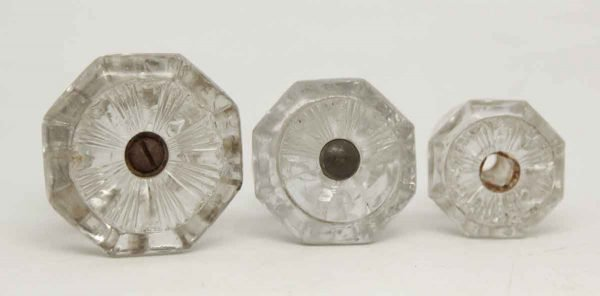 Set of Burst Concave Glass Knobs