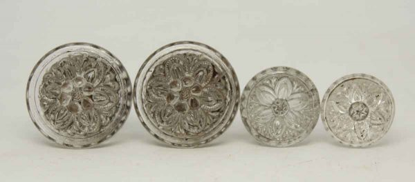 Set of Five Sandwich Glass Knobs