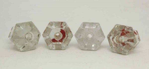 Set of Four Glass Vintage Knobs