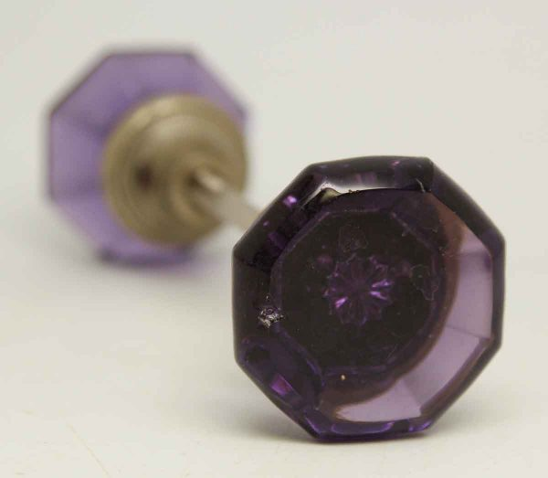 Purple Glass Knob with Star Shaped Bullet