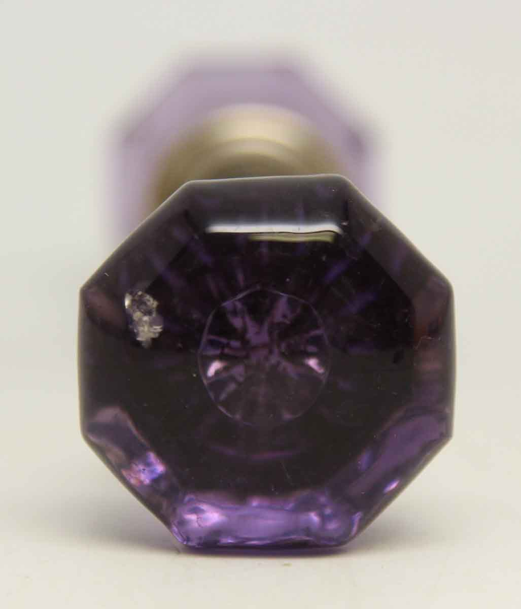 Small Vintage Purple Glass Knob Set Olde Good Things