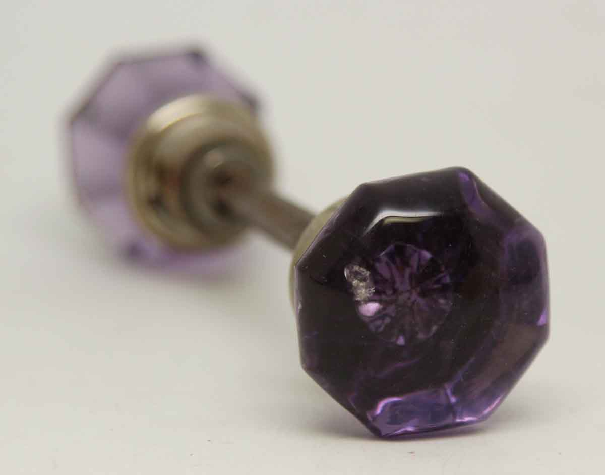 Small Vintage Purple Glass Knob Set Olde Good Things