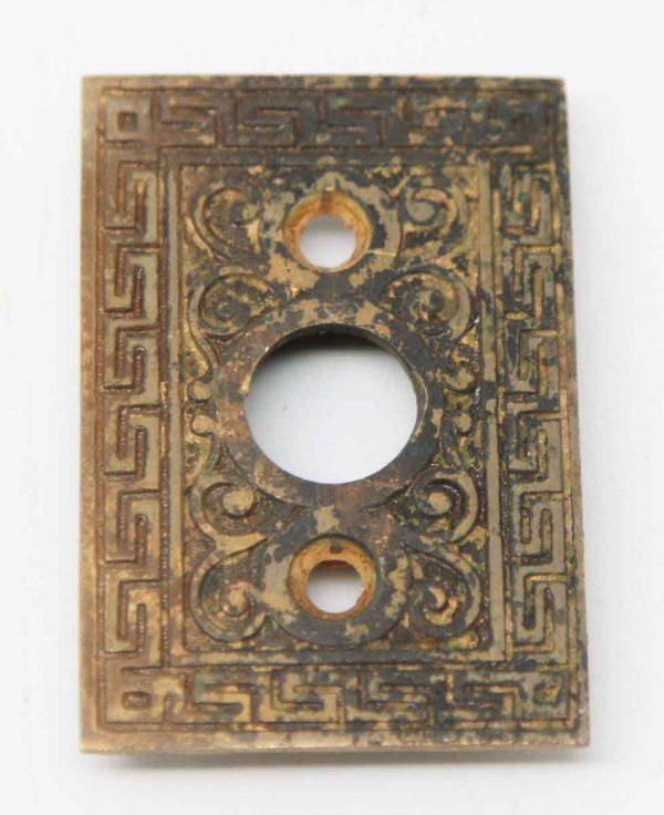 Rectangle Ornate Bronze Rosette