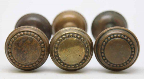 Beaded Pressed Brass Knob Set
