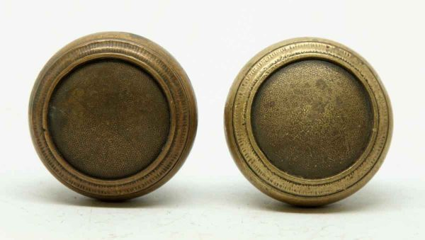 Pair of Brass Concentric Circle Knobs