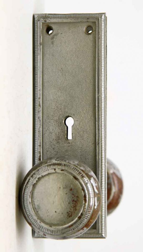 Concentric Circle Nickel Over Bronze Knob Set