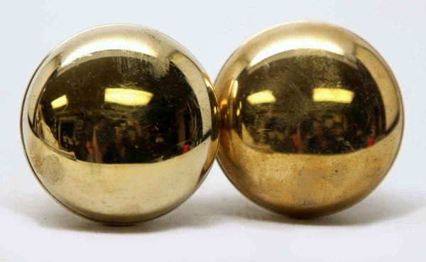 Olde New Pair of Brass Knobs