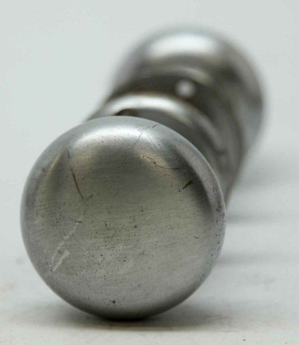 Pair of Nickel Over Cast Brass Knobs & Locks