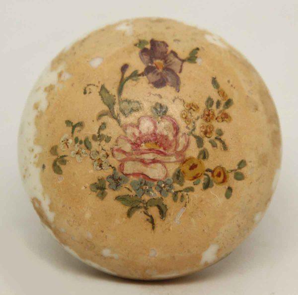 Floral Porcelain Knob