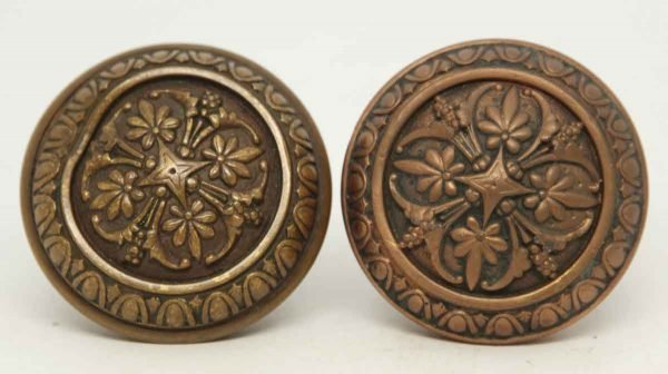 Pair of Collectors Quality Ornate Knobs