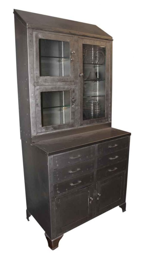 Steel Hutch with Multiple Drawers & Shelves