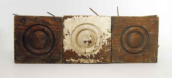 Set of Three Wooden Bulls Eye Molding