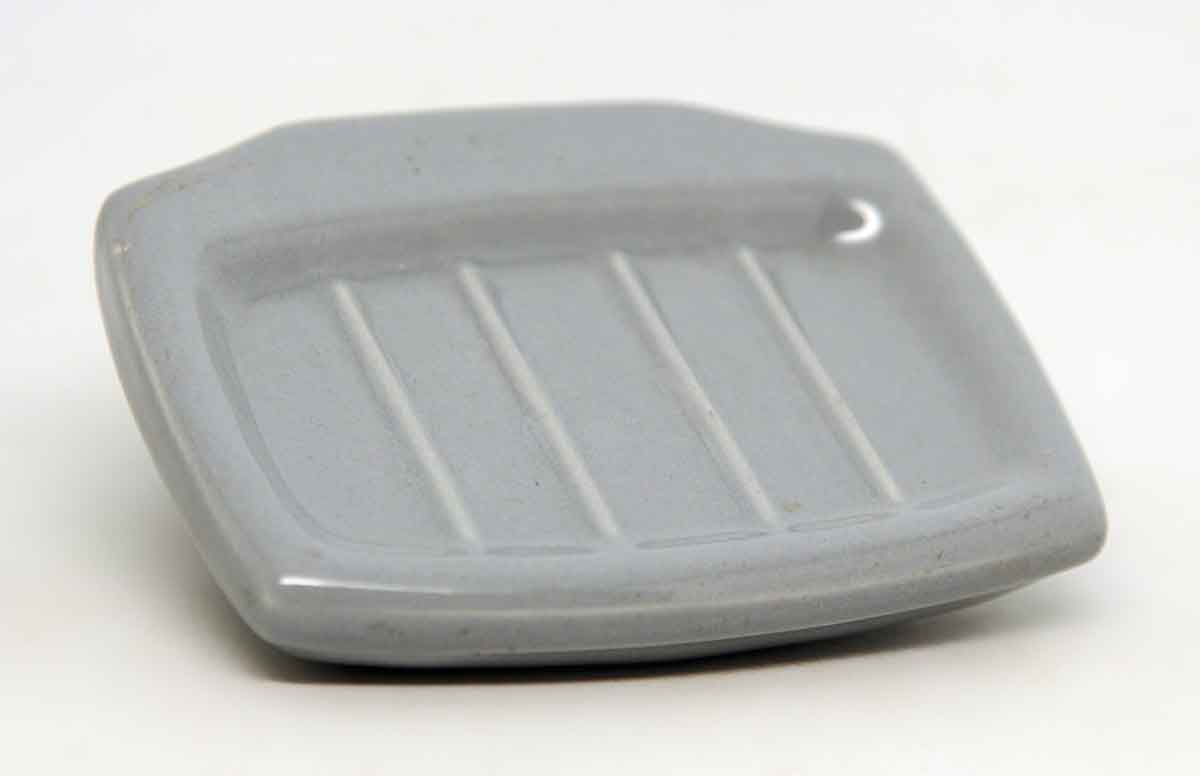 Vintage blue porcelain ceramic soap dish olde good things - Ceramic soap dishes for bathrooms ...