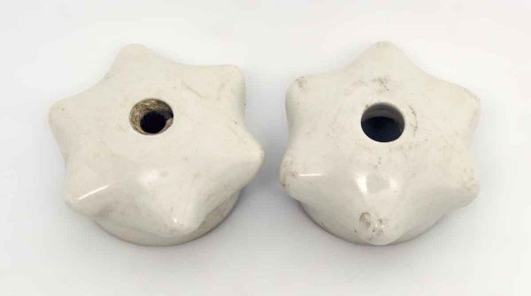 Pair of Porcelain Faucets Covers