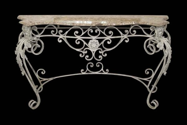 Marble Top Iron Console
