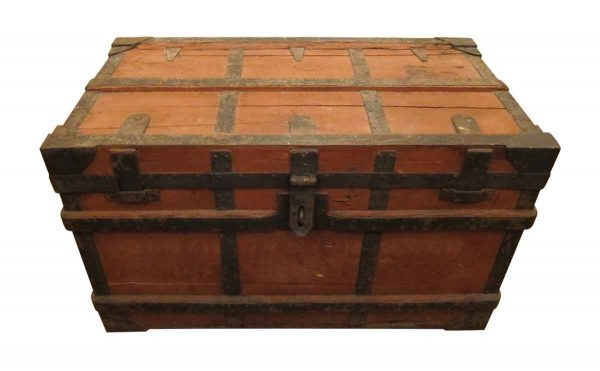 Early Century Red & Black Trunk