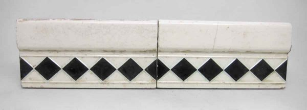 Set of Two Decorative Trim Tiles