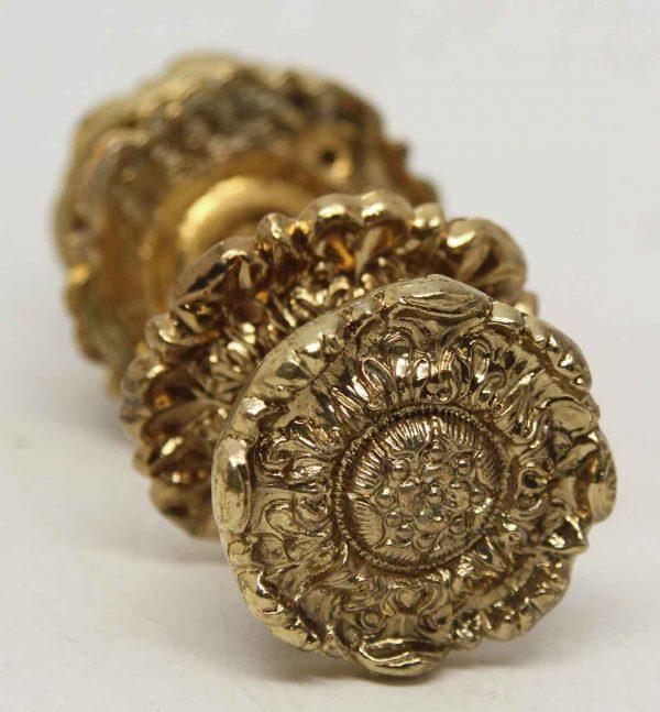Floral Brass Decorative Knob Set