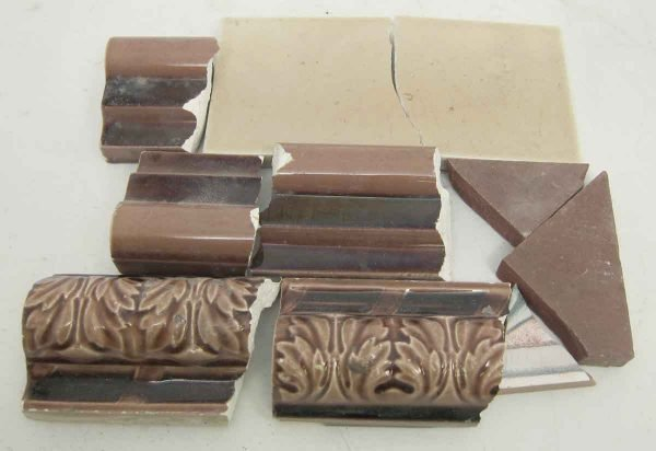 Set of Brown Variety Colored Broken Tiles