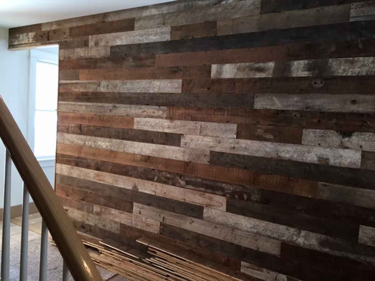 Rustic Reclaimed White Pine Skin Wall Covering Olde Good